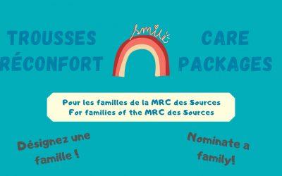 Des trousses spéciales pour les familles de la MRC des Sources
