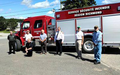 Un nouveau camion incendie pour la région de Richmond