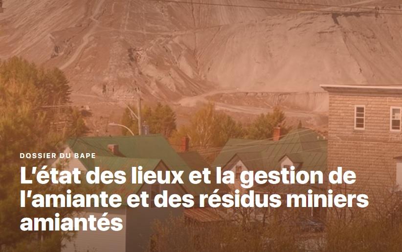 Sondage Léger: Les résidents de la région de Thetford Mines peu inquiets de la présence de résidus miniers amiantés