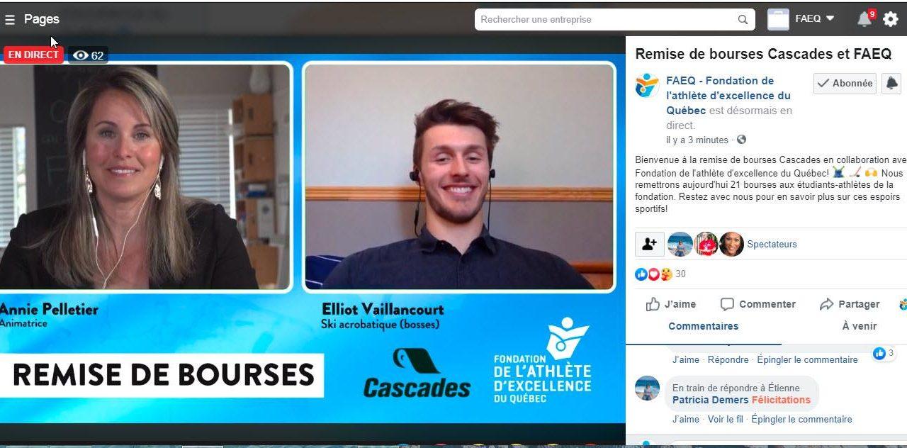 Cascades appuie les étudiants-athlètes et verse 80 000 $ en bourses