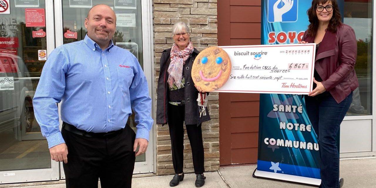 6 867 Biscuits sourire au profit de la Fondation du CSSS des Sources