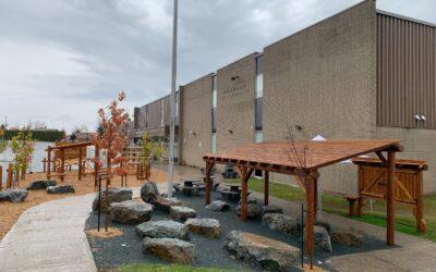 De nouveaux aménagements pour la cour de l'école secondaire de l'Escale