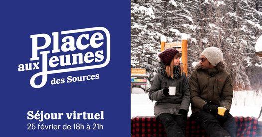 Un séjour virtuel le 25 février pour Place aux jeunes des Sources