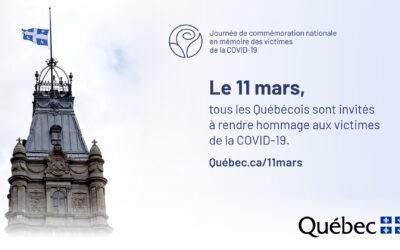 Journée de commémoration nationale en mémoire des victimes de la COVID-19