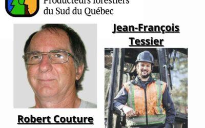 Deux candidats aux élections du Syndicat des Producteurs forestiers du Sud du Québec