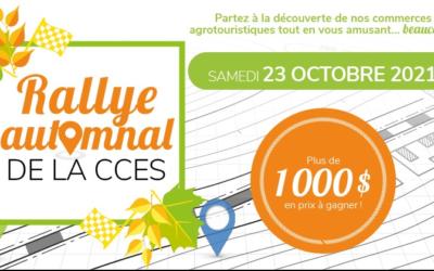 Entrevue : Pascal Lapointe, Rallye automnal de la CCES