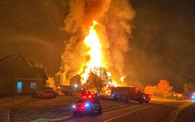 Un poulailler réduit en cendres à Saint-Christophe-d'Arthabaska